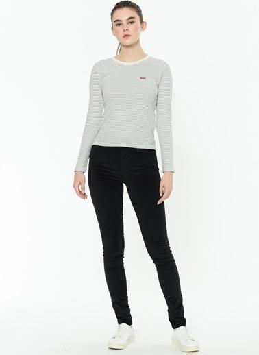 Levi's® 188820370 721 High Rise Skinny Comfort Dar Paça Yüksek Bel Kadın Jean Pantolon Siyah